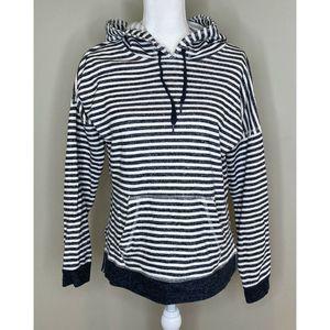 VOLCOM Women's Stripe Hooded Pullover Sweatshirt M